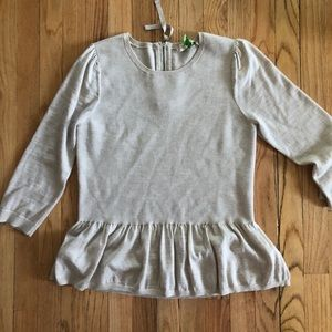 LOFT peplum sweater top